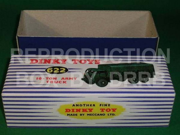 Dinky #622 10-Ton Army Truck (Foden) - Reproduction Box